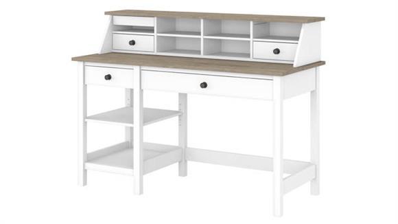 "Computer Desks Bush Furniture 54""W Computer Desk with Shelves and Desktop Organizer"