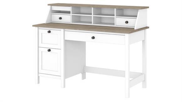 "Computer Desks Bush Furniture 54""W Computer Desk with Drawers and Desktop Organizer"