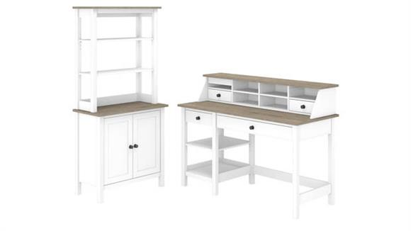 "Computer Desks Bush Furniture 54""W Computer Desk with Shelves, Desktop Organizer and Bookcase"