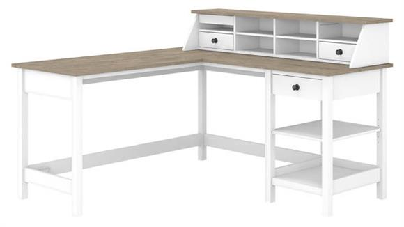 "L Shaped Desks Bush Furniture 60""W L-Shaped Computer Desk with Desktop Organizer"