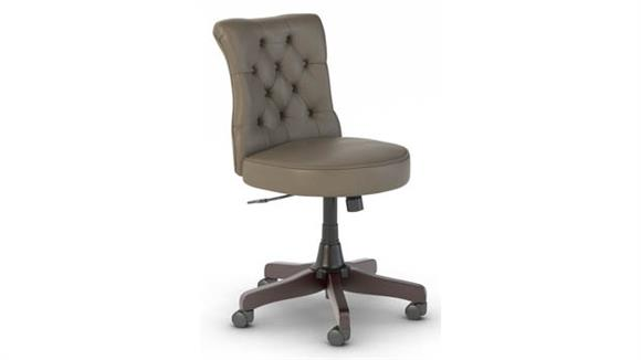 Office Chairs Bush Furniture Mid Back Tufted Leather Office Chair