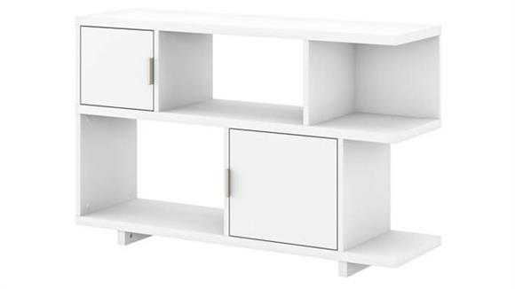 Bookcases Bush Furniture Low Geometric Bookcase with Doors