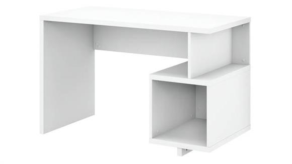 "Writing Desks Bush Furniture 48""W Writing Desk with Storage Cubby"