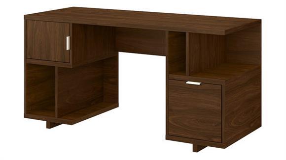 "Computer Desks Bush Furniture 60""W Computer Desk with Drawer, Storage Shelves and Door"