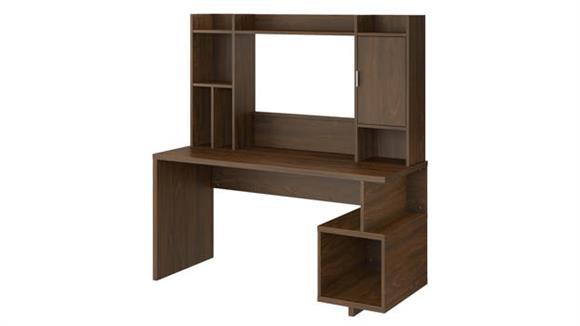 "Writing Desks Bush Furniture 60""W Writing Desk with Hutch"