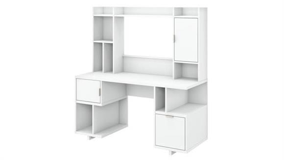 "Computer Desks Bush Furniture 60""W Computer Desk with Hutch"