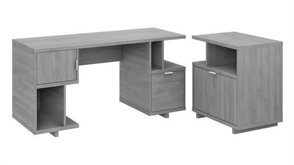 "Computer Desks Bush Furniture 60"" W Computer Desk with Lateral File Cabinet"