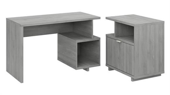 """Writing Desks Bush Furniture 48"""" W Writing Desk with Lateral File Cabinet"""