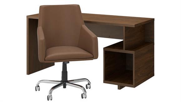 "Writing Desks Bush Furniture 60"" W Writing Desk and Chair Set"