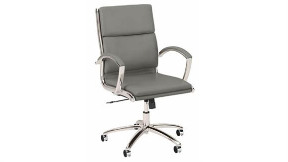 Office Chairs Bush Furniture Mid Back Leather Executive Office Chair