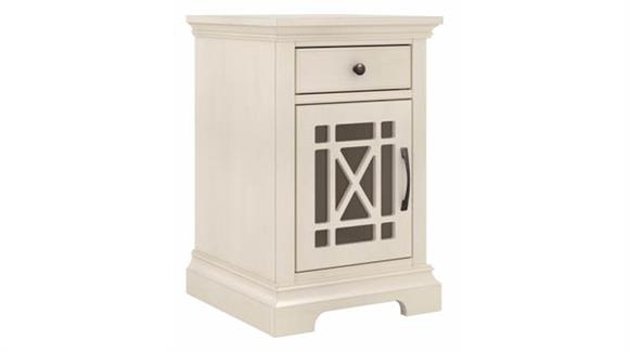 Side Tables Bush Furniture Small Side Table with Storage and USB Ports - Assembled