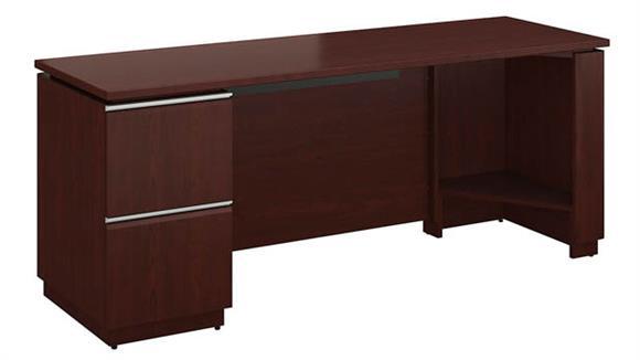 "Office Credenzas Bush Furniture 72"" x 24"" Single Pedestal Credenza"