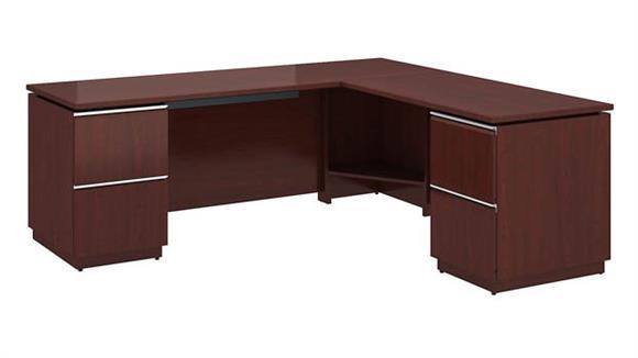 """L Shaped Desks Bush Furniture 72""""W x 24""""D Left-Handed L Station Desk"""