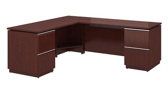 "L Shaped Desks Bush Furniture 72""W x 24""D Right-Handed L Station"