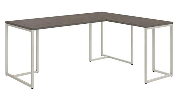 "Computer Desks Bush Furniture 72""W L Shaped Desk with 30""W Return"