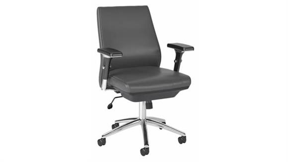 Office Chairs Bush Furniture Mid Back Leather Executive Chair