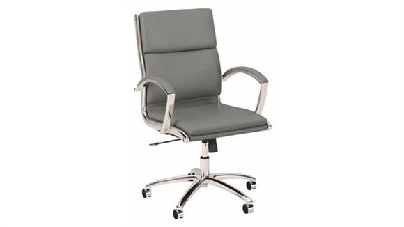 Office Chairs Bush Furniture Mid Back Leather Executive Desk Chair