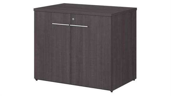 """Storage Cabinets Bush Furniture 36"""" W Storage Cabinet with Doors - Assembled"""