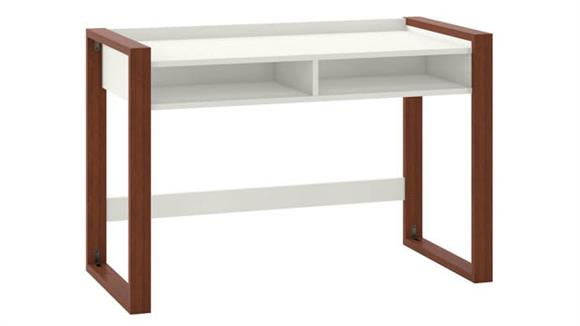 "Writing Desks Bush Furniture 48""W x 24""D Writing Desk with Shelves"