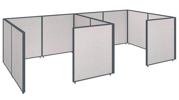 "Office Panels & Partitions Bush Furniture 144""W x 72""D x 42""H 2 Person Closed Cubicle Configuration"