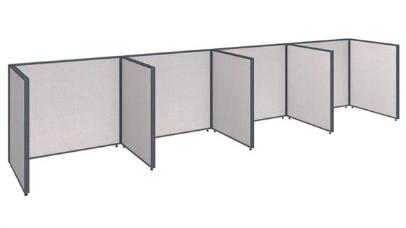 "Office Panels & Partitions Bush Furniture 192""W x 36""D x 42""H 4 Person Open Cubicle Configuration"