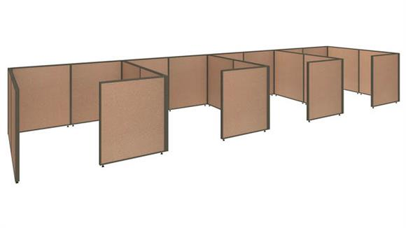"Office Panels & Partitions Bush Furniture 288""W x 72""D x 42""H 4 Person Closed Cubicle Configuration"