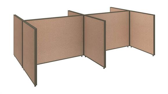 "Workstations & Cubicles Bush Furniture 120""W 4 Person Open Cubicle Configuration"