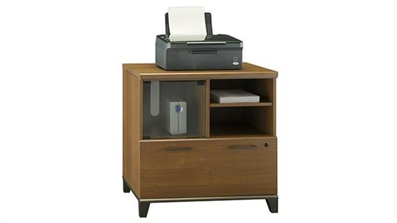 File Cabinets Lateral Bush Furniture Lateral File with Printer Stand