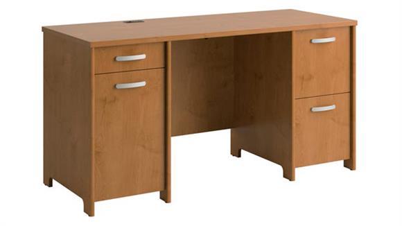 Executive Desks Bush Furniture Double Pedestal Desk