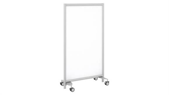 Privacy Screens Bush Furniture Freestanding White Board Privacy Panel with Wheeled Base