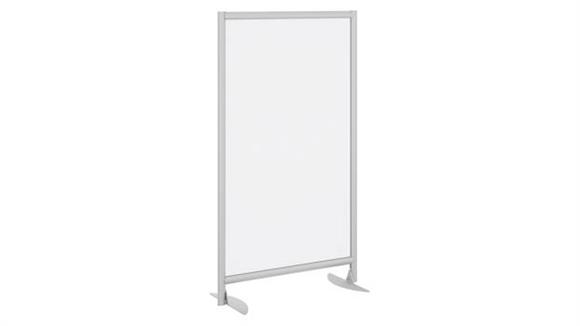 Privacy Screens Bush Furniture Freestanding Frosted Acrylic Privacy Panel with Stationary Base