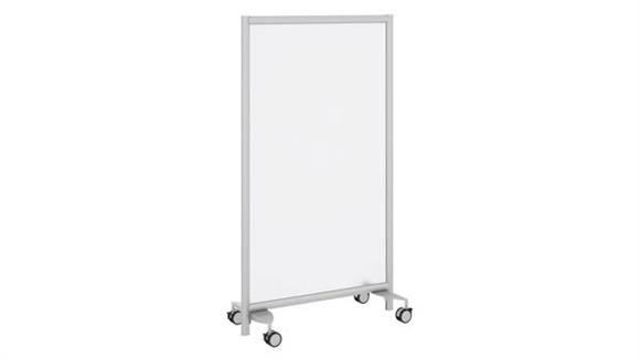 Privacy Screens Bush Furniture Freestanding Frosted Acrylic Privacy Panel with Wheeled Base