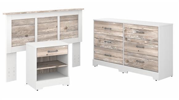 Bedroom Sets Bush Furniture Full/Queen Size Headboard, Dresser and Nightstand Bedroom Set