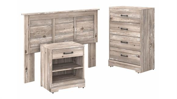 Bedroom Sets Bush Furniture Full/Queen Size Headboard, Chest of Drawers and Nightstand Bedroom Set