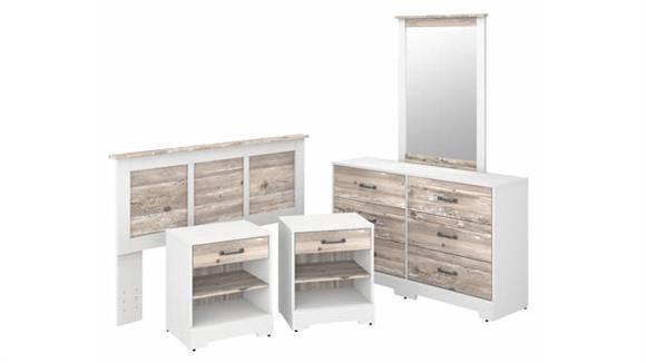 Bedroom Sets Bush Furniture 5 Piece Full/Queen Size Bedroom Set