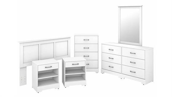 Bedroom Sets Bush Furniture 6 Piece Full/Queen Size Bedroom Set