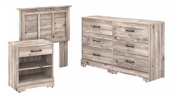 Bedroom Sets Bush Furniture Twin Size Headboard, Dresser and Nightstand Bedroom Set