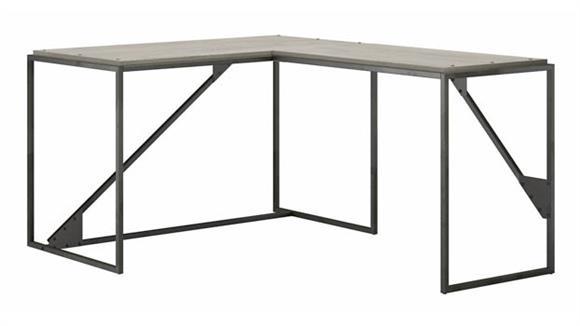 "L Shaped Desks Bush Furniture 50""W L-Shaped Industrial Desk"