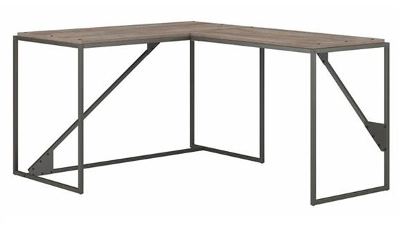 "L Shaped Desks Bush Furniture 50""W L-Shaped Industrial Desk"