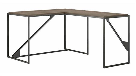 "L Shaped Desks Bush Furniture 50"" W L-Shaped Industrial Desk"