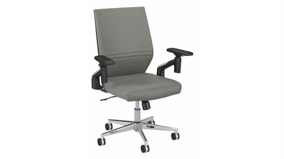 Office Chairs Bush Furniture Mid Back Leather Desk Chair