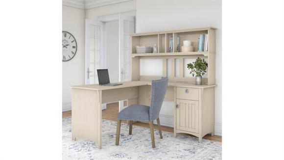 "L Shaped Desks Bush Furniture 60""W L Shaped Desk with Hutch"