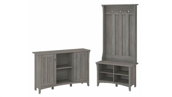 Storage Cabinets Bush Furniture Entryway Storage Set with Hall Tree / Shoe Bench and Accent Cabinet