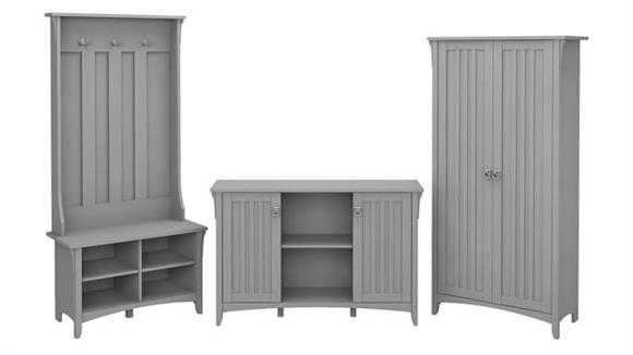 Storage Cabinets Bush Furniture Entryway Storage Set with Hall Tree/Shoe Bench and Accent Cabinets