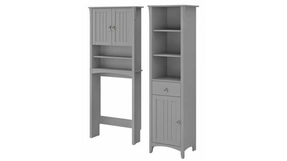 Storage Cabinets Bush Furniture Tall Linen Cabinet and Over The Toilet Storage Cabinet
