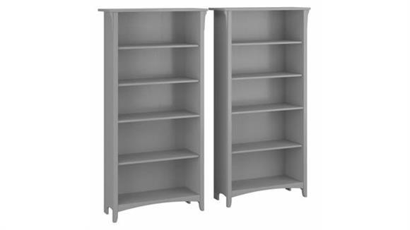 Bookcases Bush Furniture Tall 5 Shelf Bookcase (Set of 2)