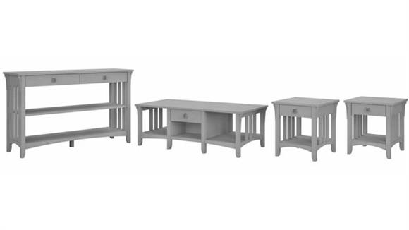 Coffee Tables Bush Furniture Coffee Table, Console Table and Set of 2 End Tables
