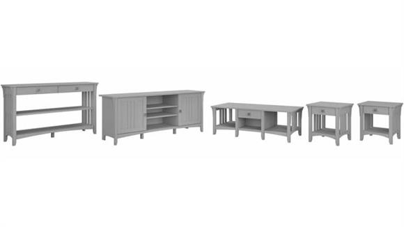 Coffee Tables Bush Furniture TV Stand, Coffee Table, Console Table and Set of 2 End Tables