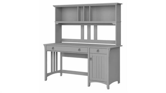 "Computer Desks Bush Furniture 60"" W Computer Desk with Hutch"