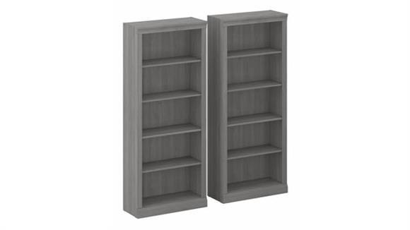 Bookcases Bush Furniture Tall 5 Shelf Bookcases (Set of 2)